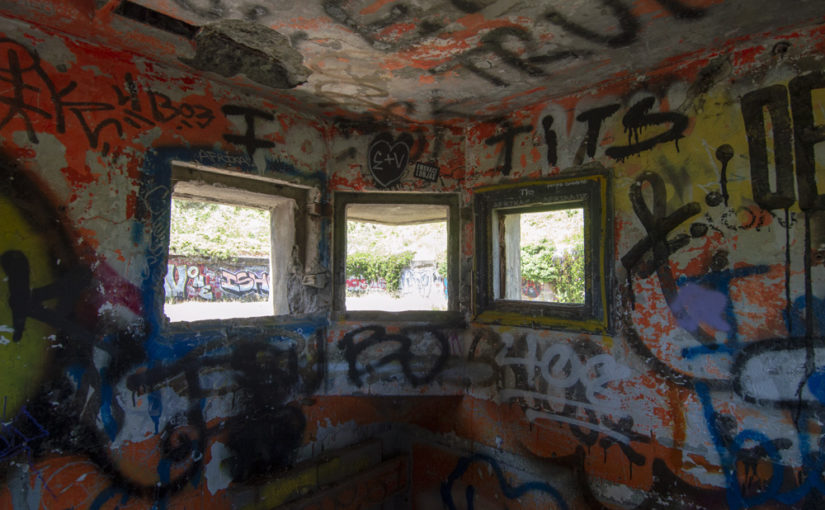Exploring and abandoned bunker in the US of A.